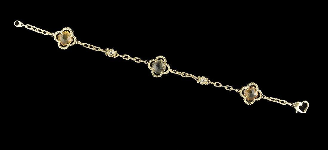 Gemstone Bracelet in the Van Cleef & Arpels Style