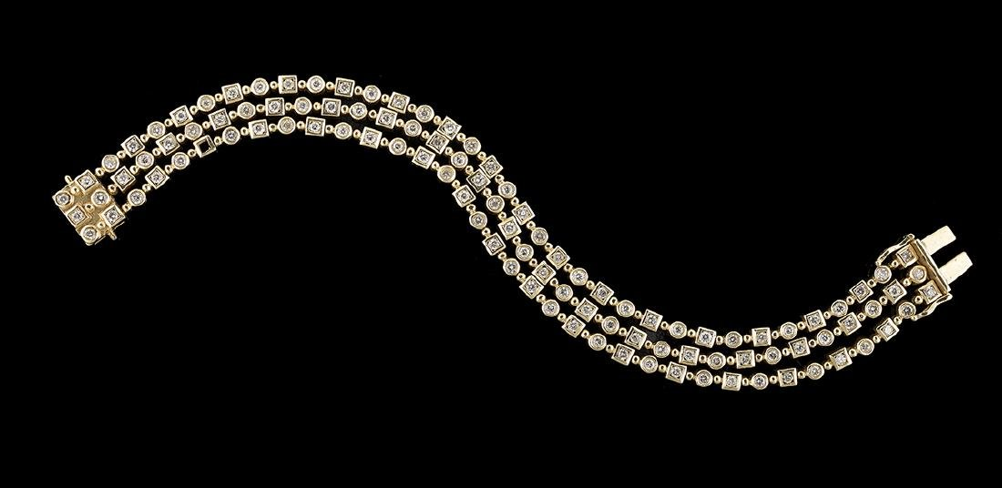 Three-Strand Diamond Bracelet