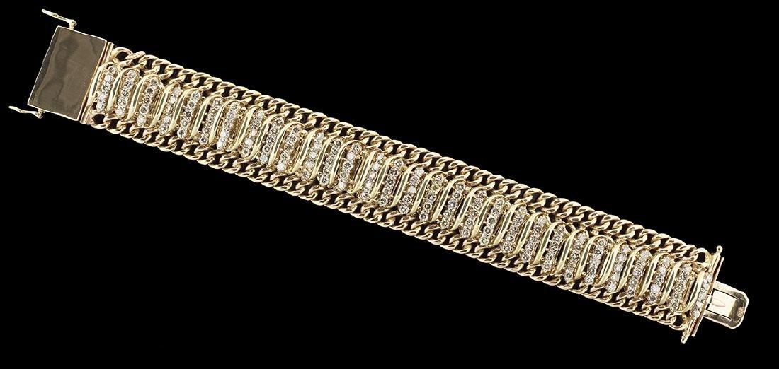 Wide Diamond Bracelet and Earrings - 2