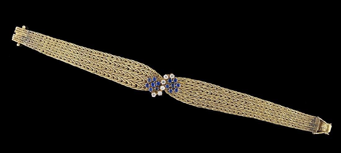 Diamond and Sapphire Bracelet - 2