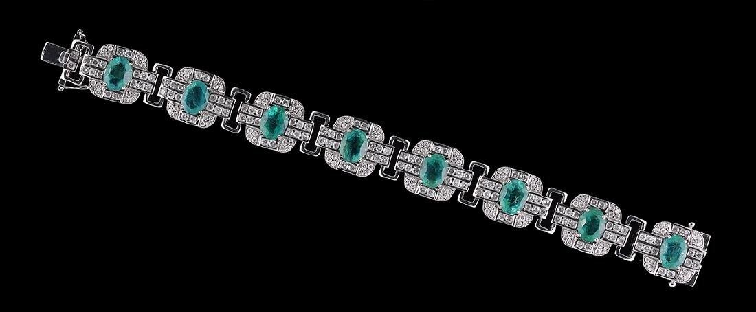 Emerald and Diamond Bracelet - 2