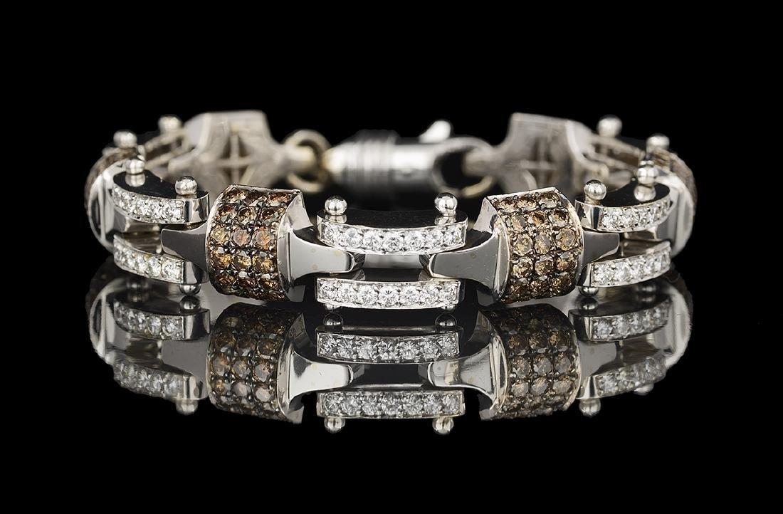 White and Brown Diamond Bracelet - 2