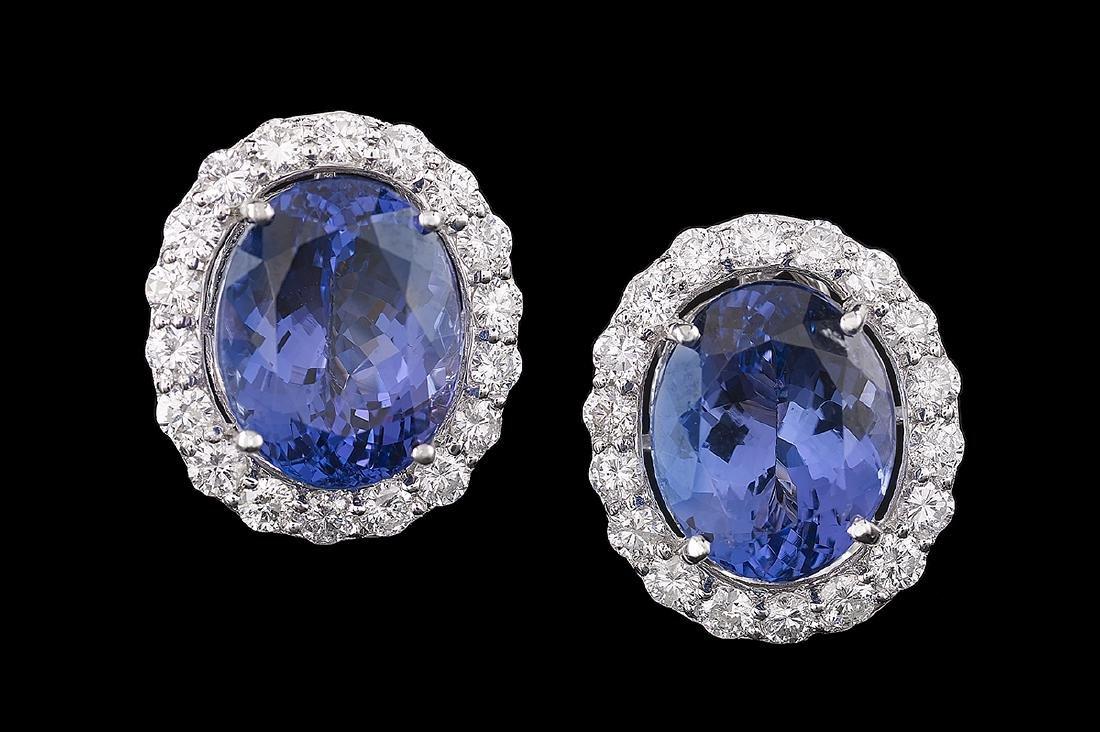 Tanzanite and Diamond Earrings