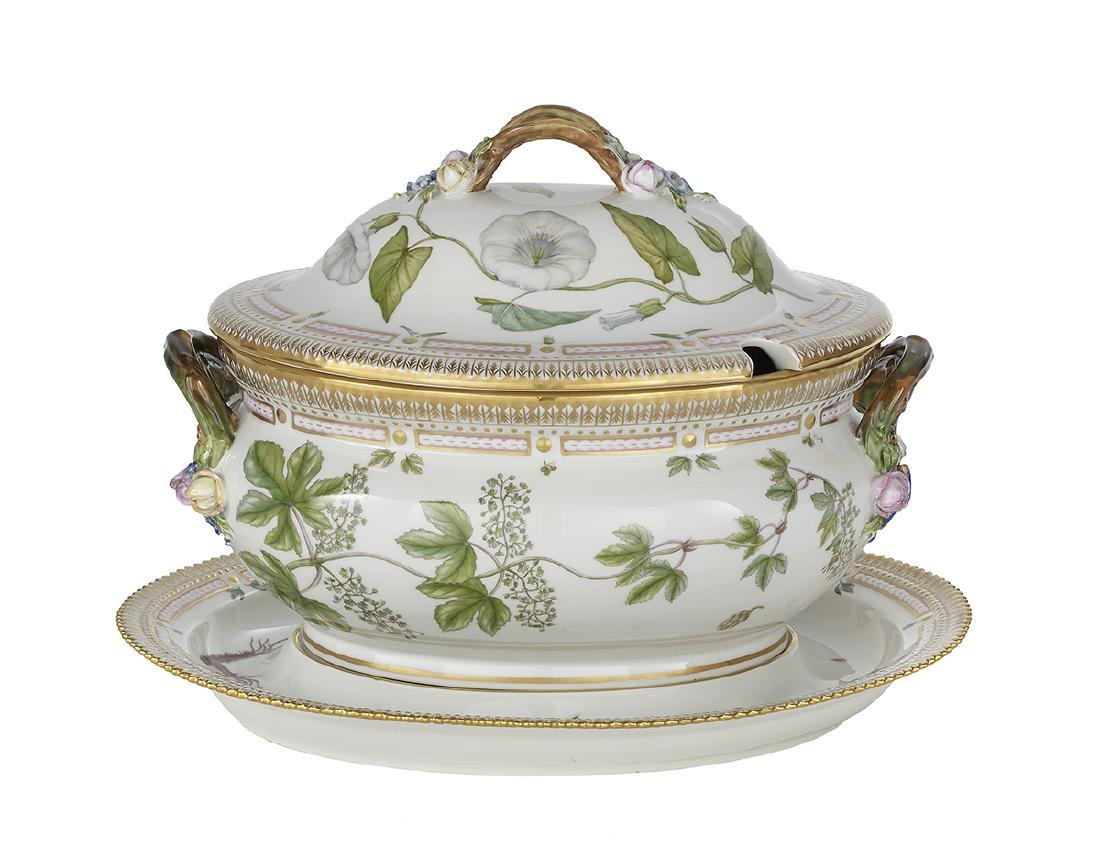Flora Danica Oval Covered Tureen and Stand