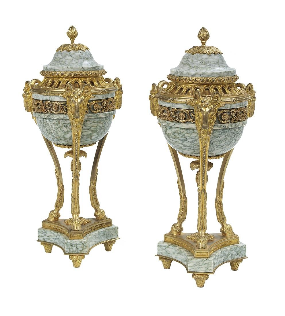 Pair of French Louis XV-Style Garniture Urns