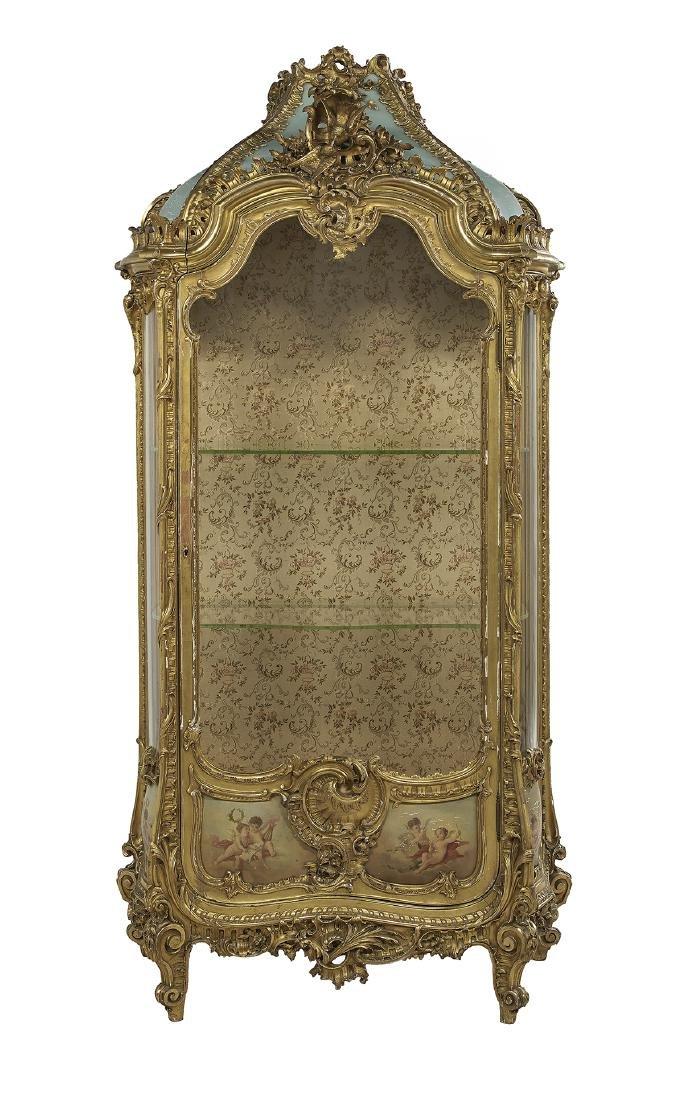 Louis XV-Style Giltwood Vitrine - 4