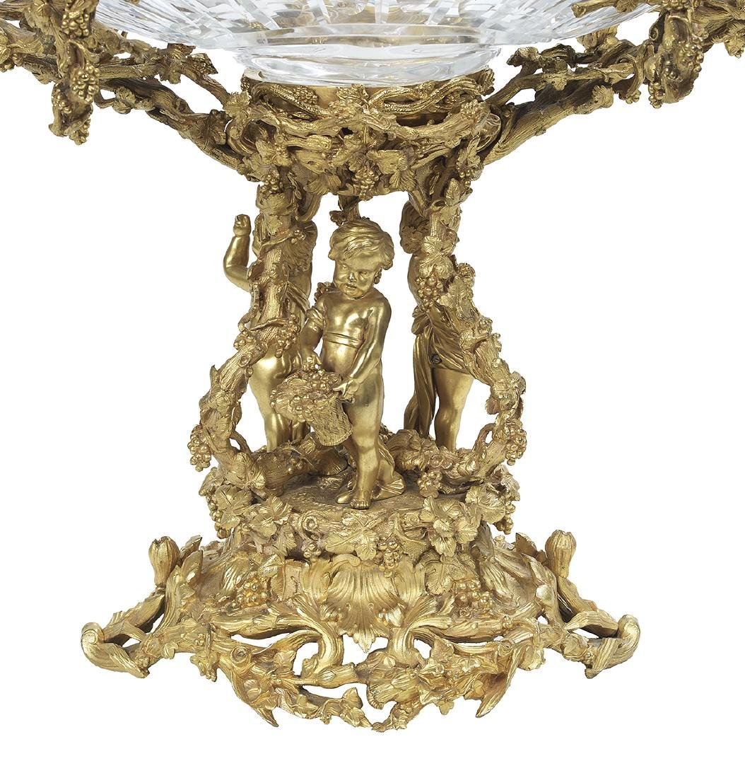 French Gilt-Bronze and Cut Glass Centerpiece - 2