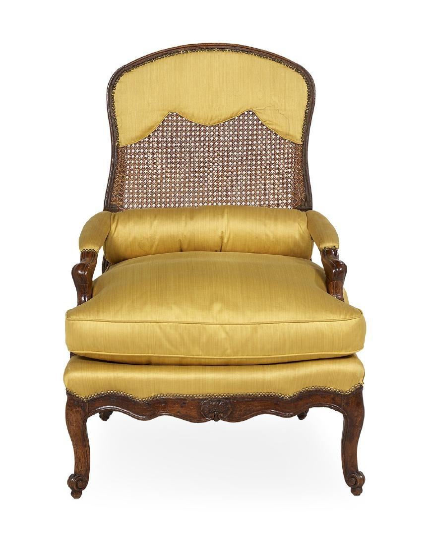 Louis XV Fruitwood Fauteuil