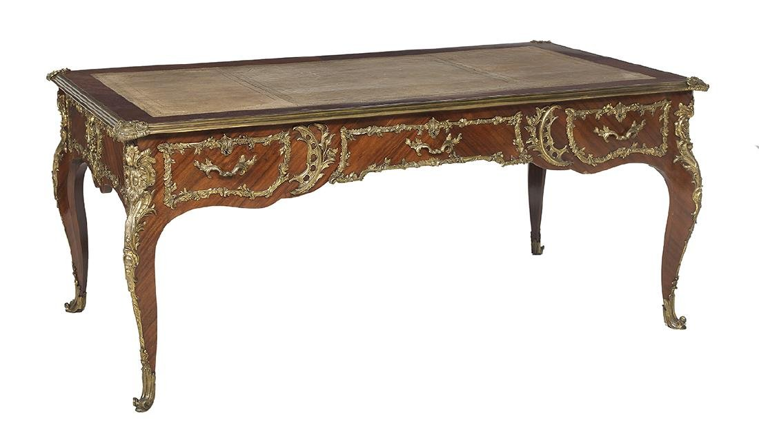Louis XV-Style Mahogany Bureau Plat