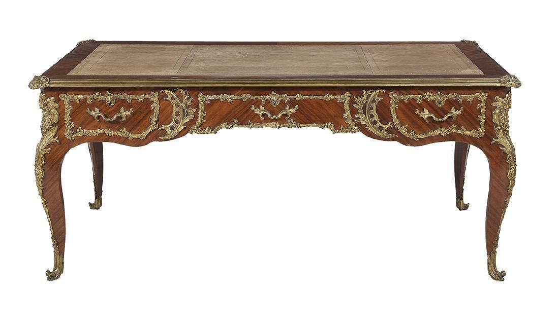 Louis XV-Style Mahogany Bureau Plat - 2