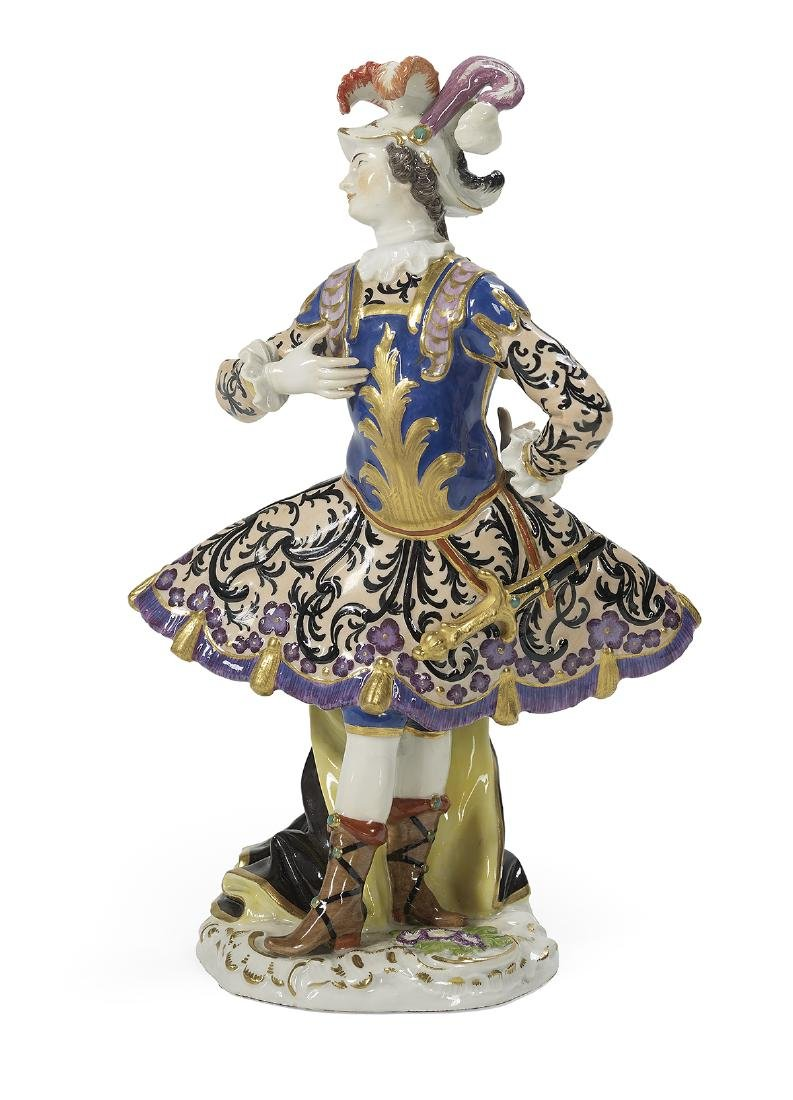 German Meissen Porcelain Figure of a Dancer