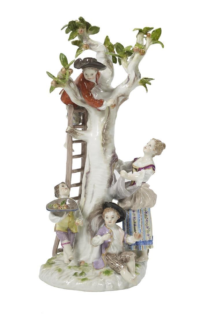 German Meissen Porcelain Figural Group