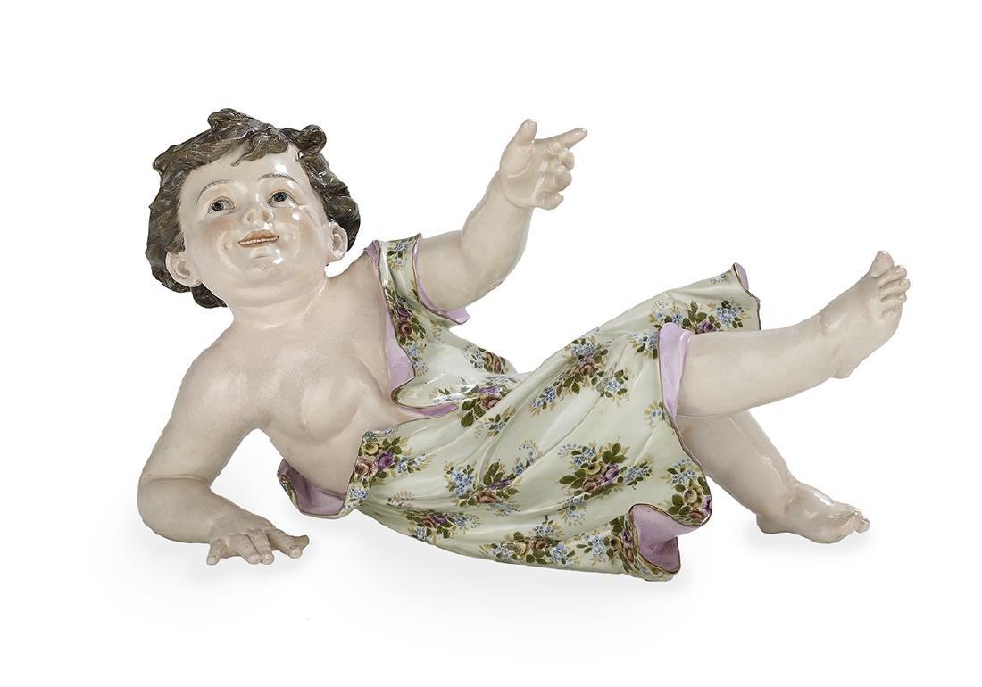 Large Meissen-Style Porcelain Figure