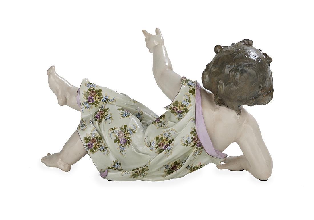 Large Meissen-Style Porcelain Figure - 2