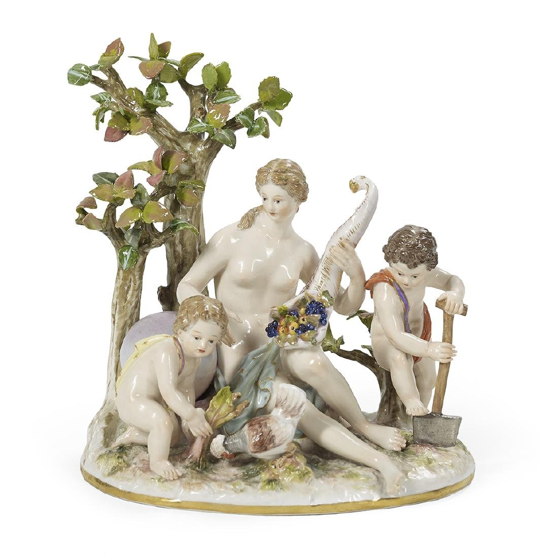 German Meissen Porcelain Figural Group