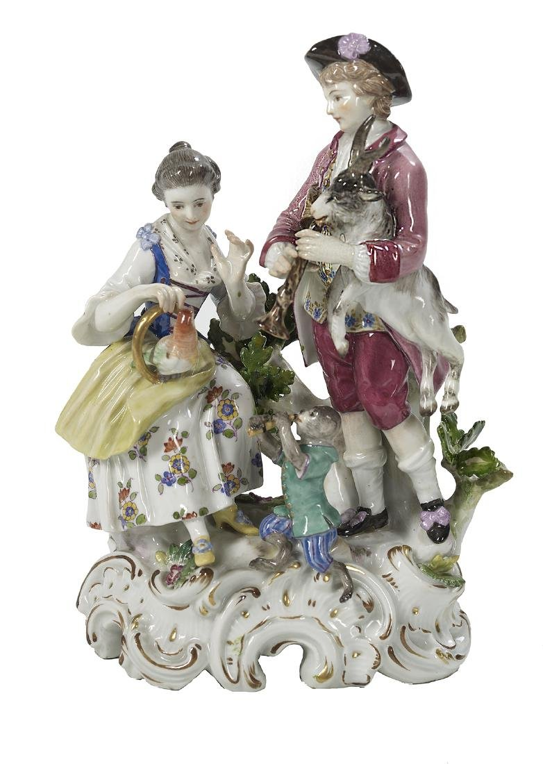 German Meissen Porcelain Group