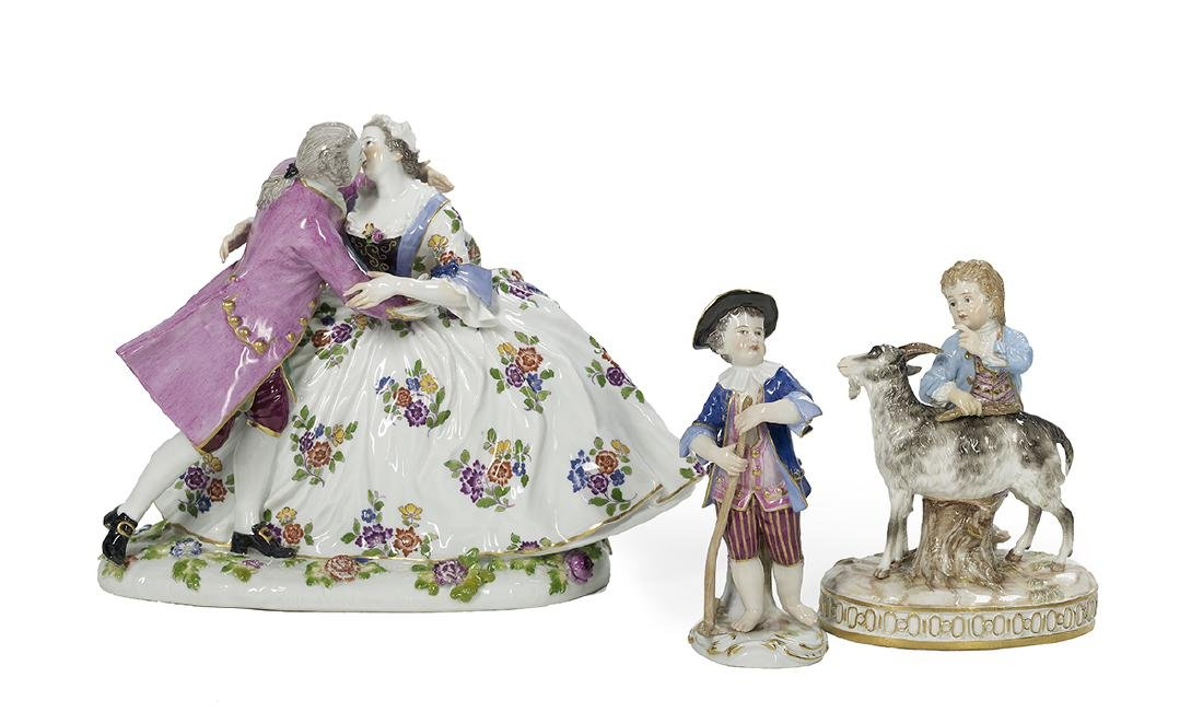 Three German Meissen Porcelain Figures