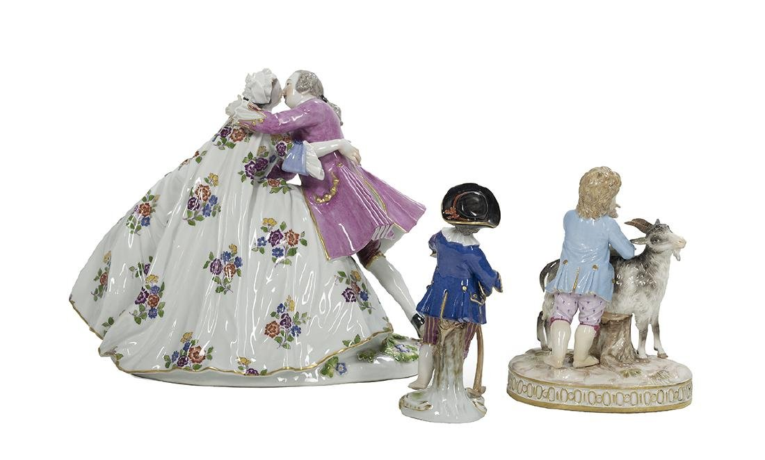 Three German Meissen Porcelain Figures - 2