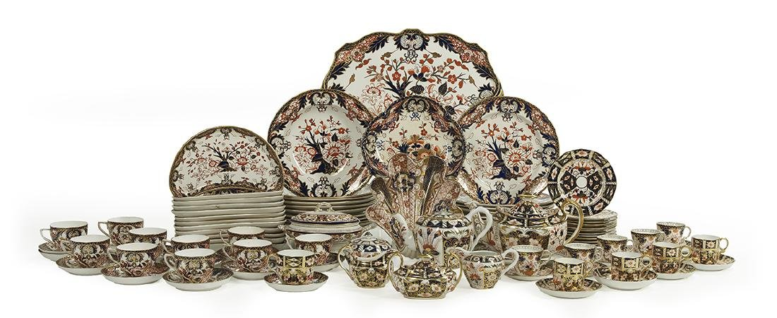 """Royal Crown Derby """"Imari"""" Service with Additions"""