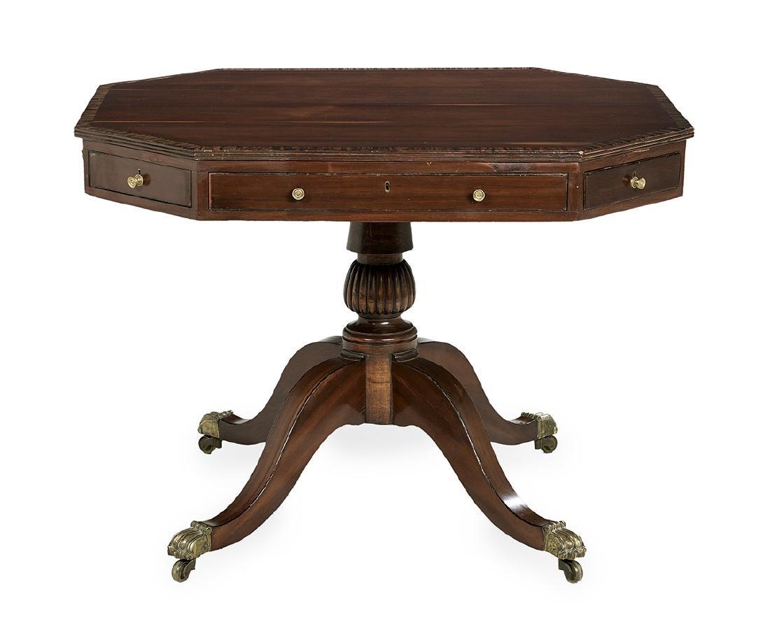 Regency Mahogany Center Table