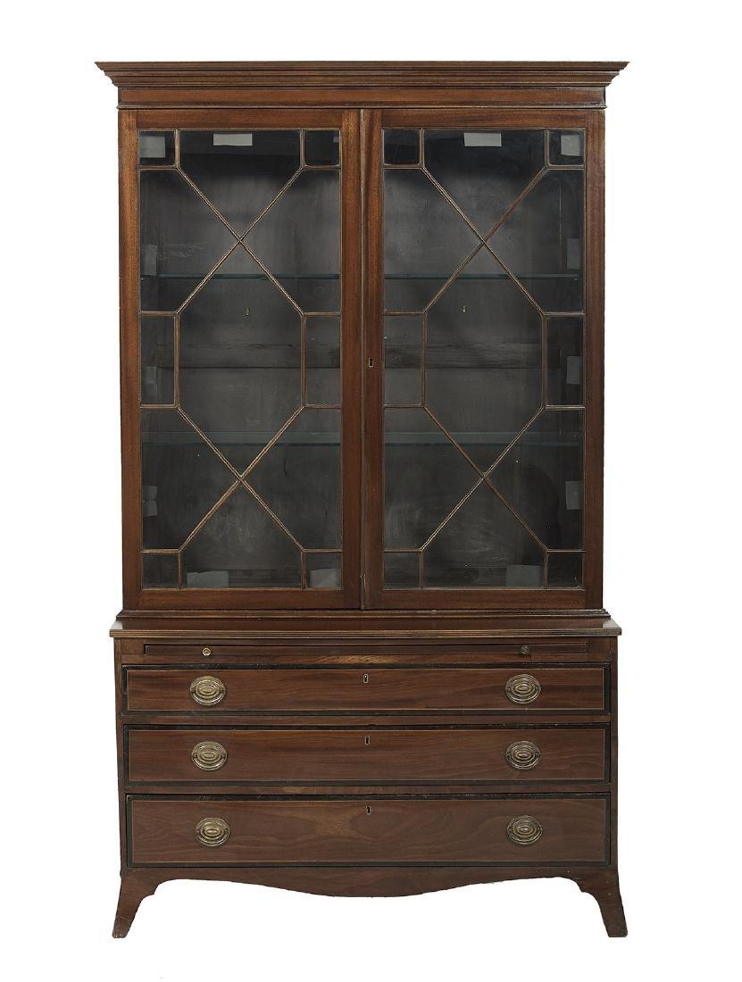 Late Regency Mahogany Bookcase
