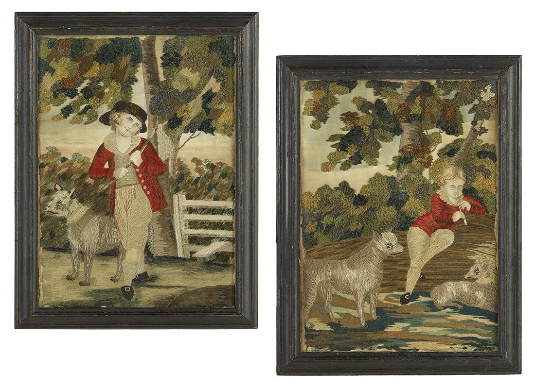 Pair of George III Needlework Pictures
