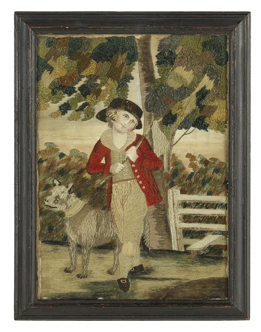 Pair of George III Needlework Pictures - 2