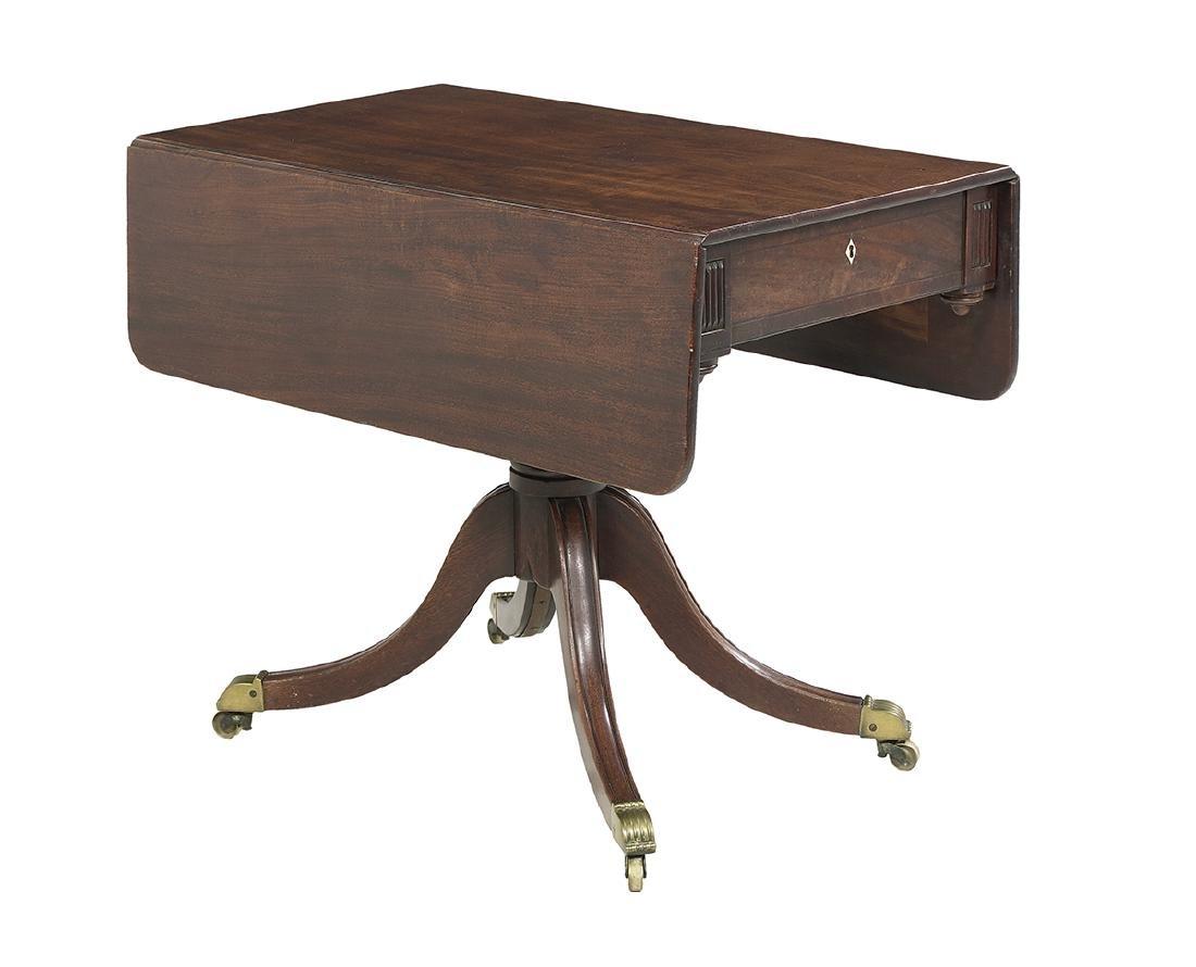 Regency Mahogany Drop-Leaf Side Table
