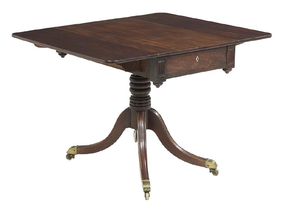 Regency Mahogany Drop-Leaf Side Table - 3