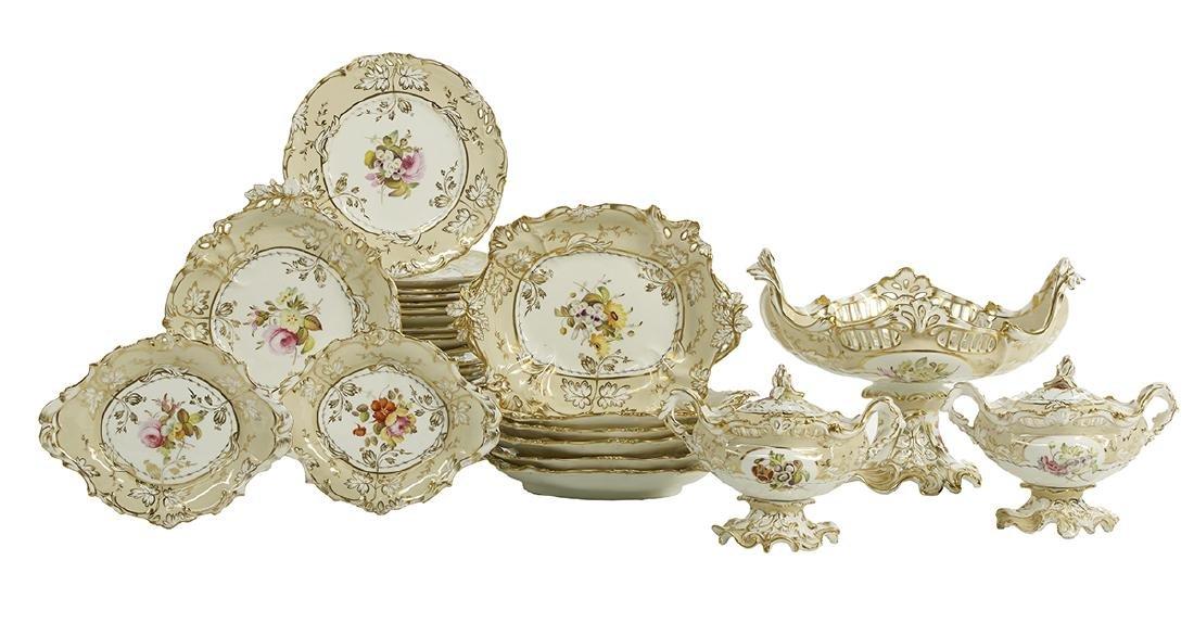 Handsome English Porcelain Dessert Service
