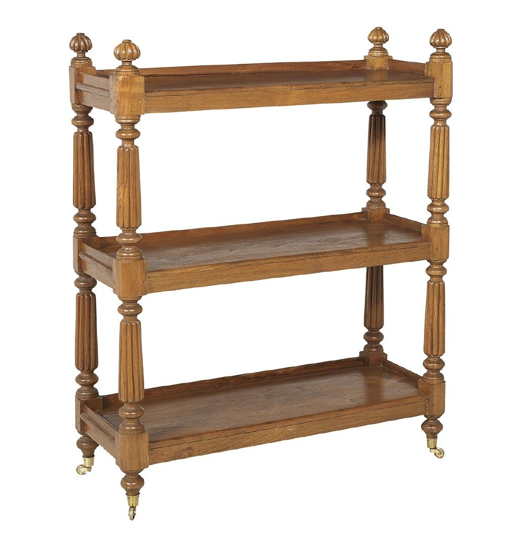 William IV-Style Teakwood Three-Tier Etagere