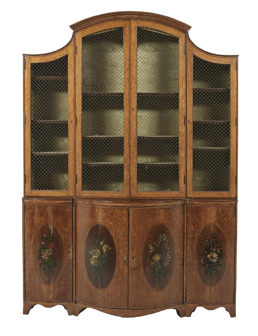 Edwardian Satinwood Bookcase