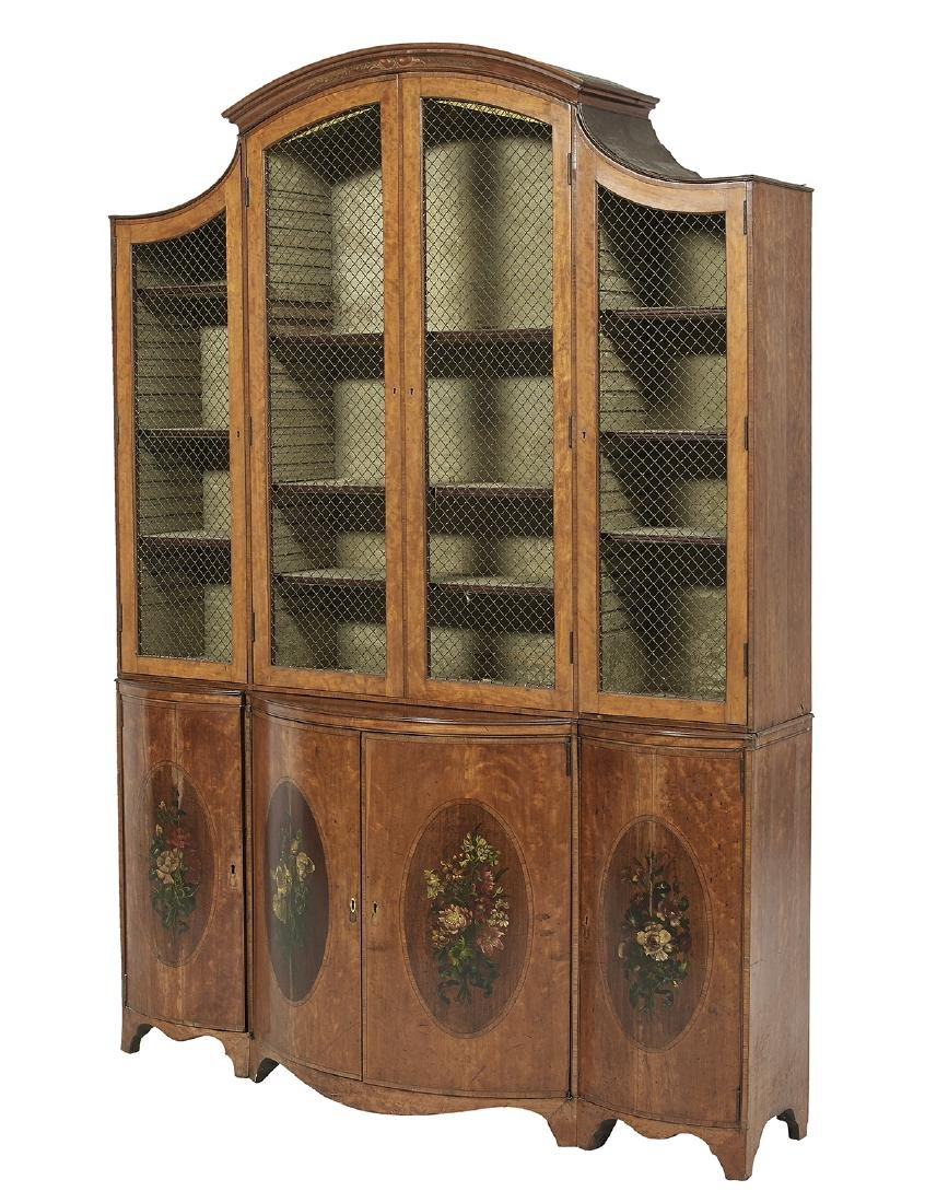Edwardian Satinwood Bookcase - 2