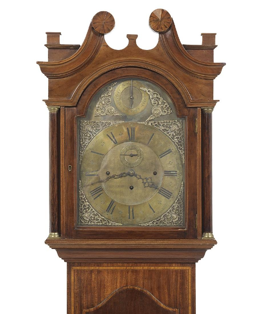 Edwardian Inlaid Mahogany Tall Case Clock - 2