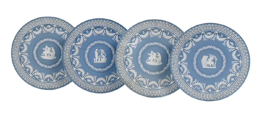 Four Wedgwood Jasperware Plates