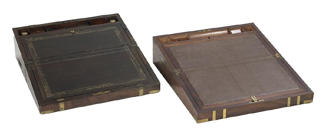2 Victorian Writing Slopes Mounted as Side Tables - 2