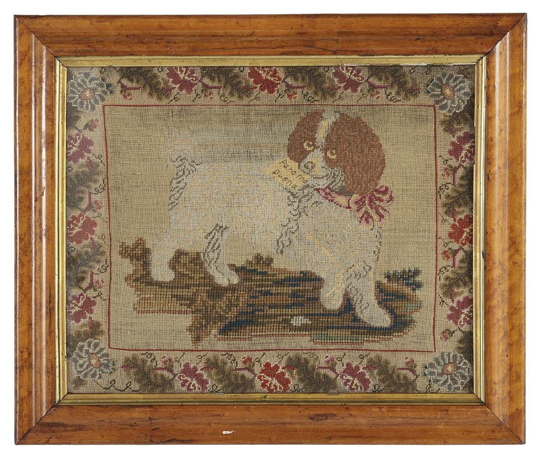 Four Embroideries of Spaniels and Other Dogs - 2