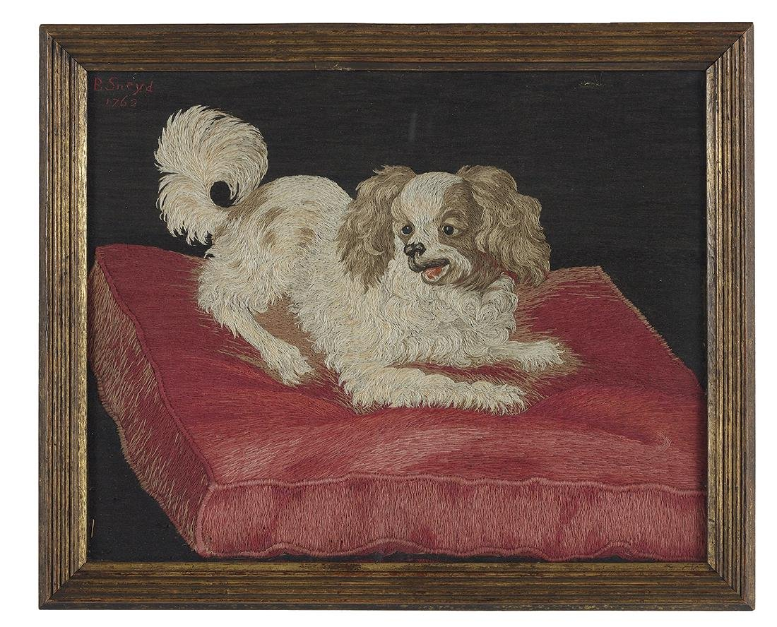 Four Embroideries of Spaniels and Other Dogs - 5