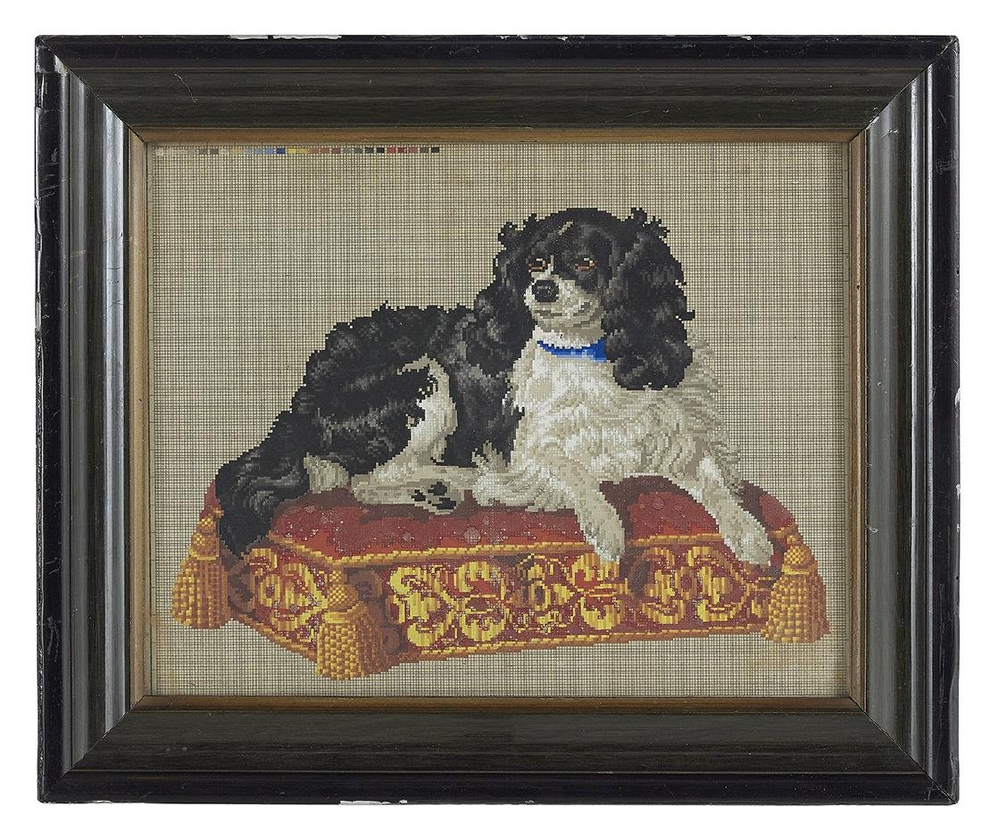 Two Berlin Woolwork Embroideries of Dogs - 2