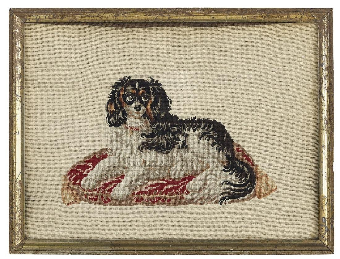 Two Berlin Woolwork Embroideries of Dogs - 3