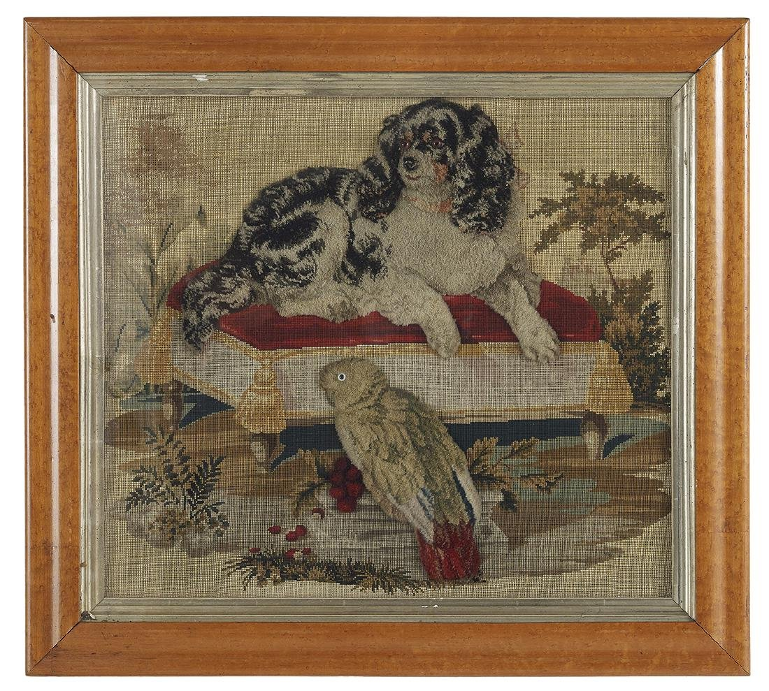 Two Berlin Woolwork Embroideries of Dogs - 4