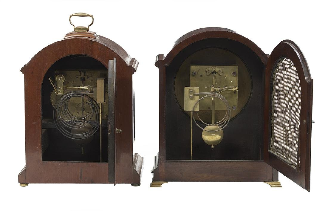 Two Edwardian Mahogany-Cased Bracket Clocks - 2