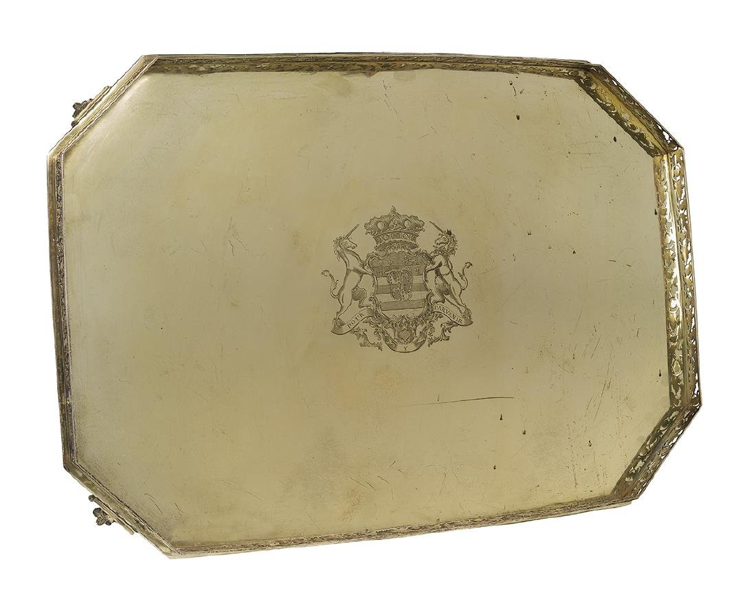 Late George III Sterling Silver Gilt Tray