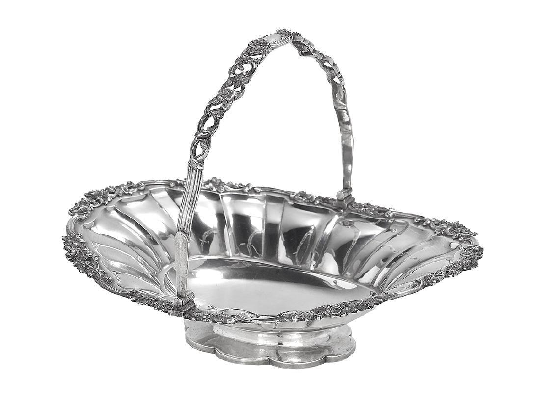 George IV Sterling Silver Cake Basket