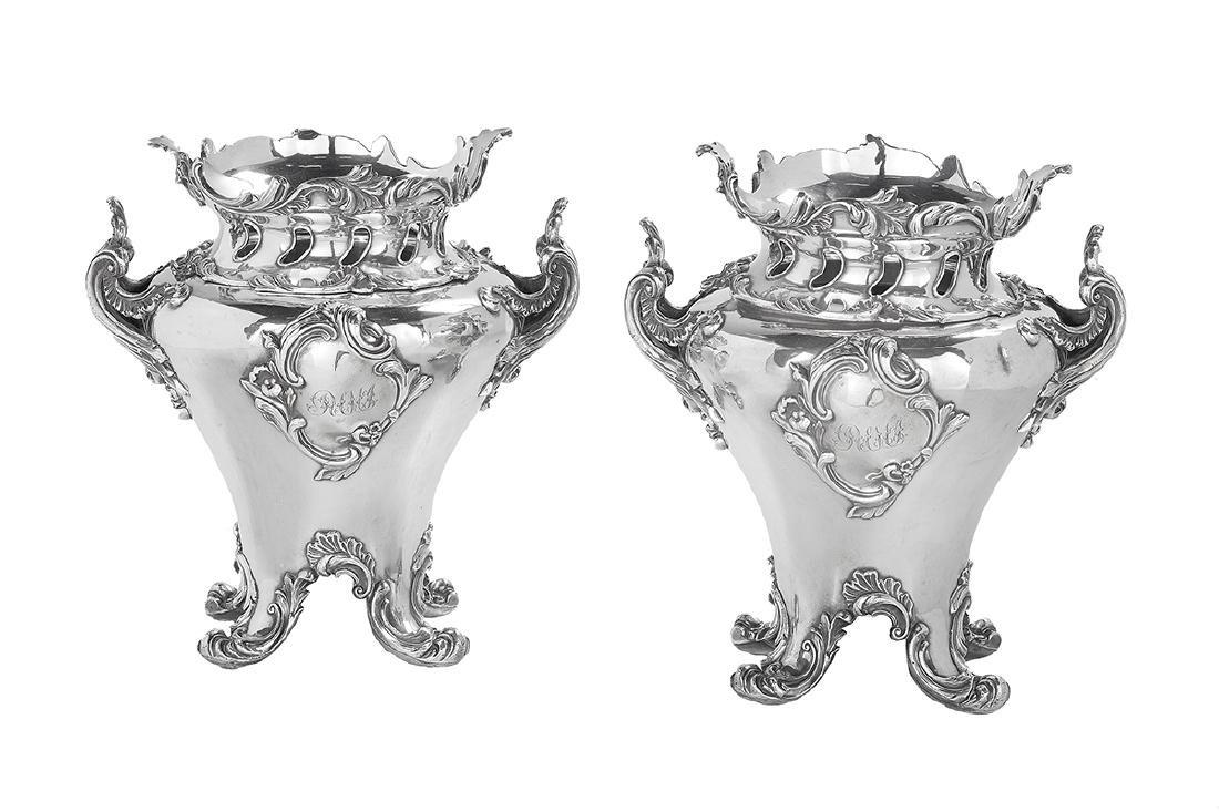 Pair of George IV Fused Plate Wine Coolers
