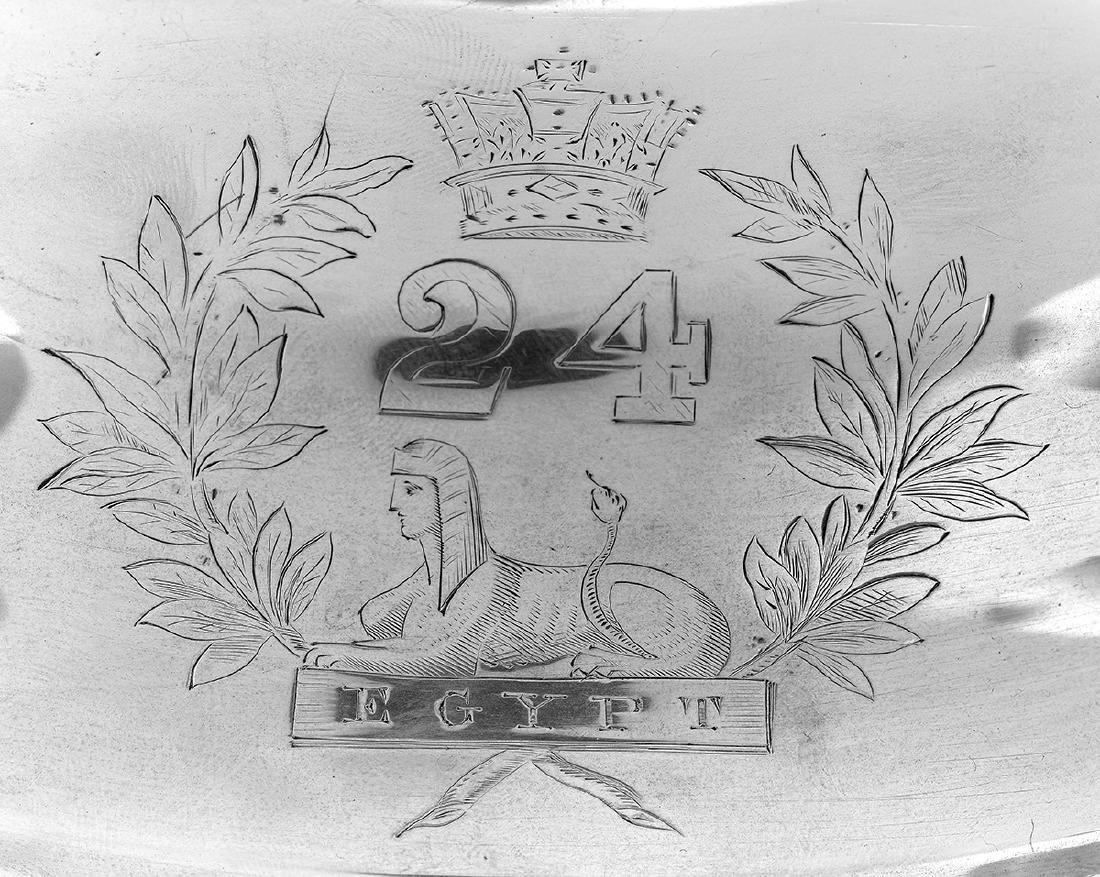 Good Victorian Regimental Sterling Silver Tureen - 2