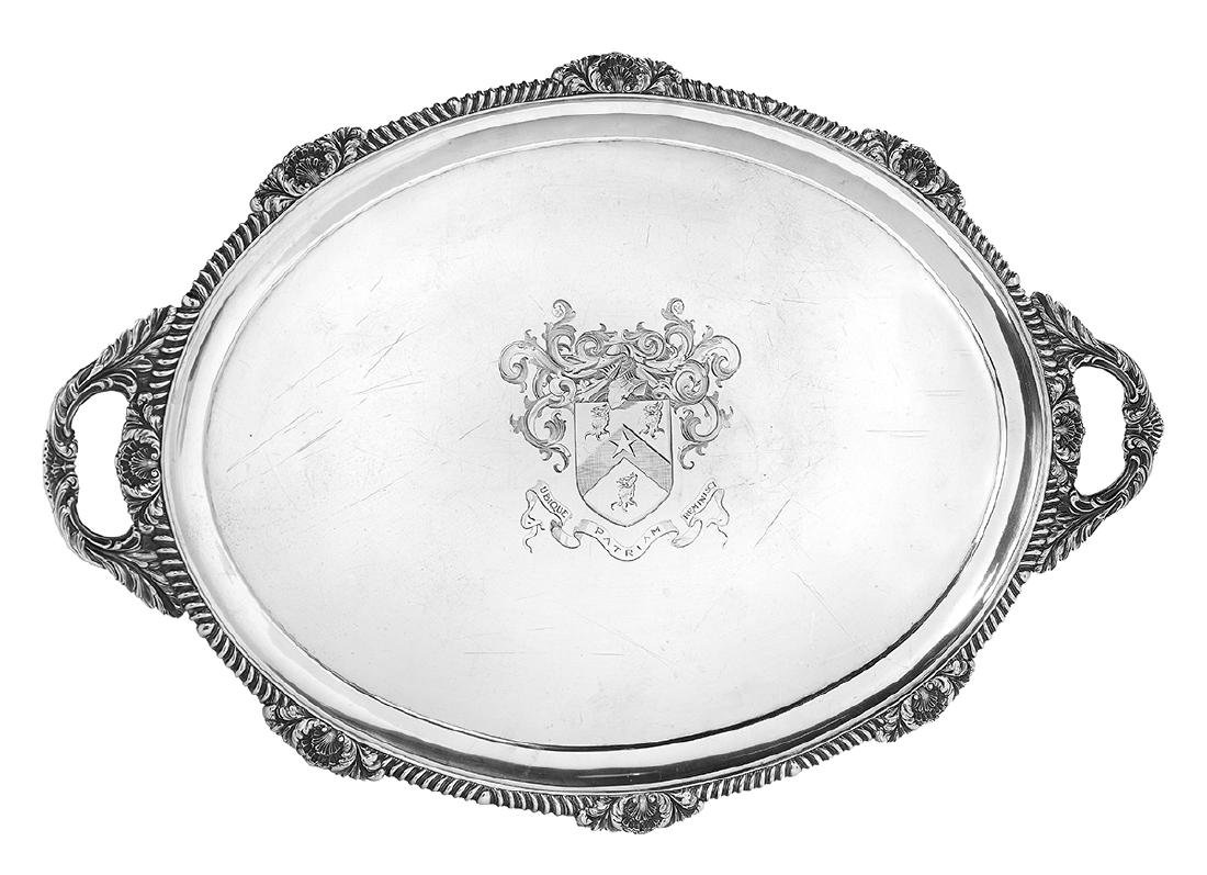 Late Victorian Sterling Silver Tea Tray