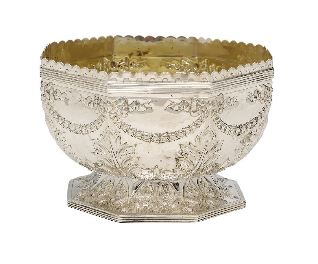 Victorian Sterling Silver Center Bowl