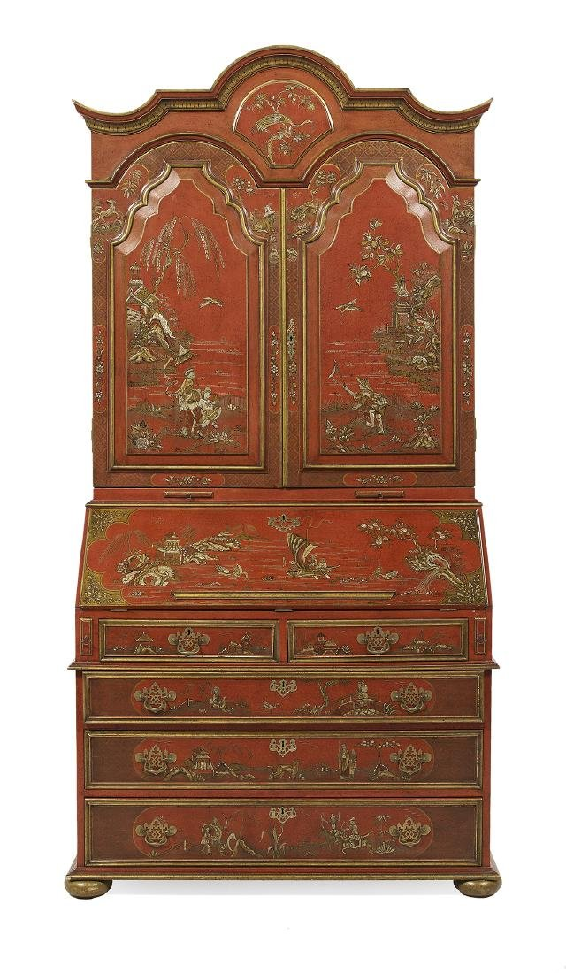 Queen Anne-Style Polychrome Secretary