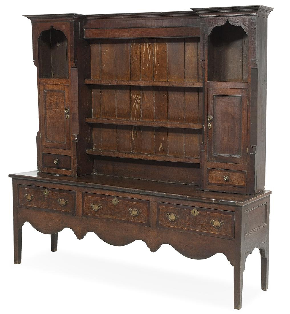 English Oak Welsh Dresser - 2